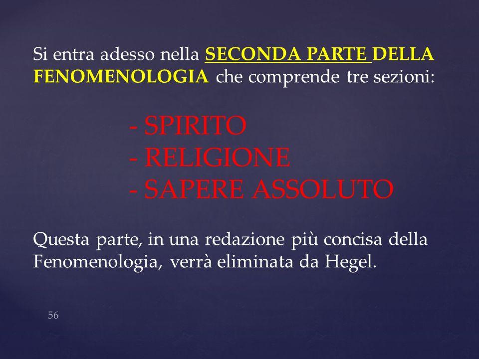 - SPIRITO - RELIGIONE - SAPERE ASSOLUTO