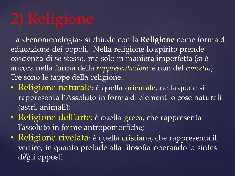 2) Religione