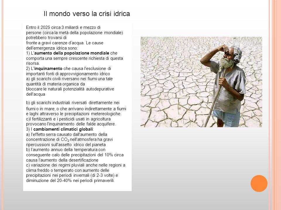 Il mondo verso la crisi idrica