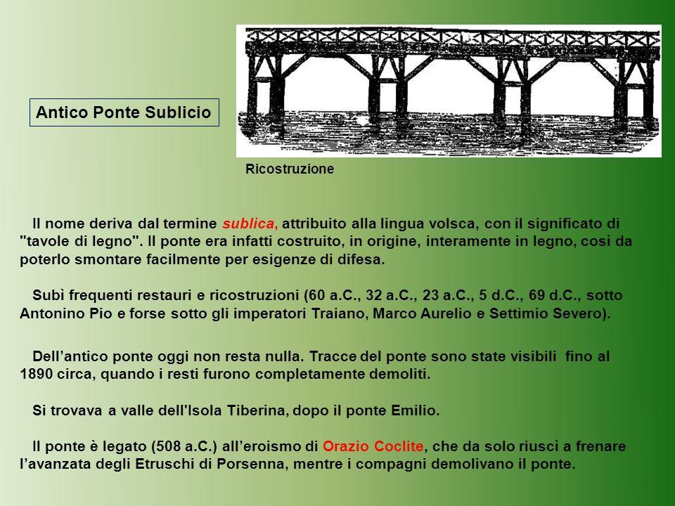 Antico Ponte Sublicio Ricostruzione.