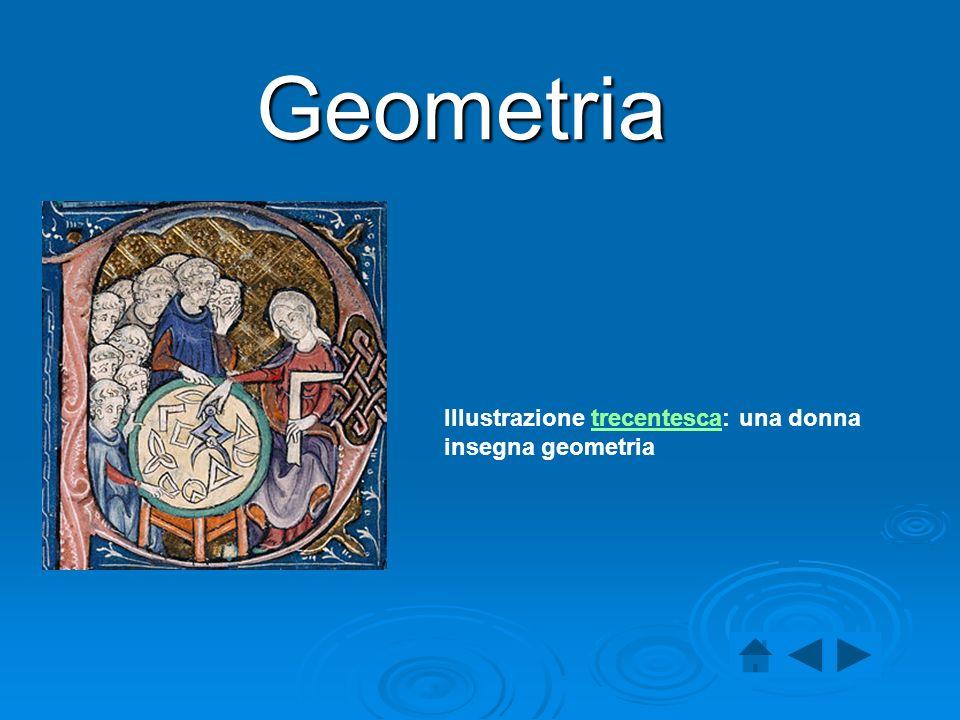 Geometria Illustrazione trecentesca: una donna insegna geometria