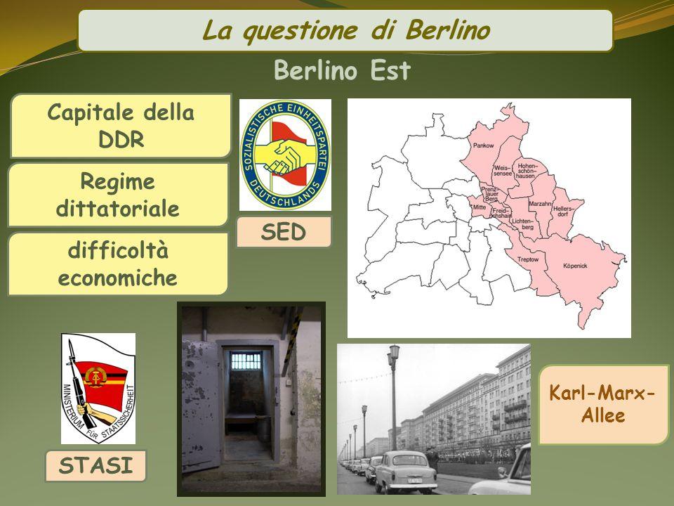 La questione di Berlino difficoltà economiche