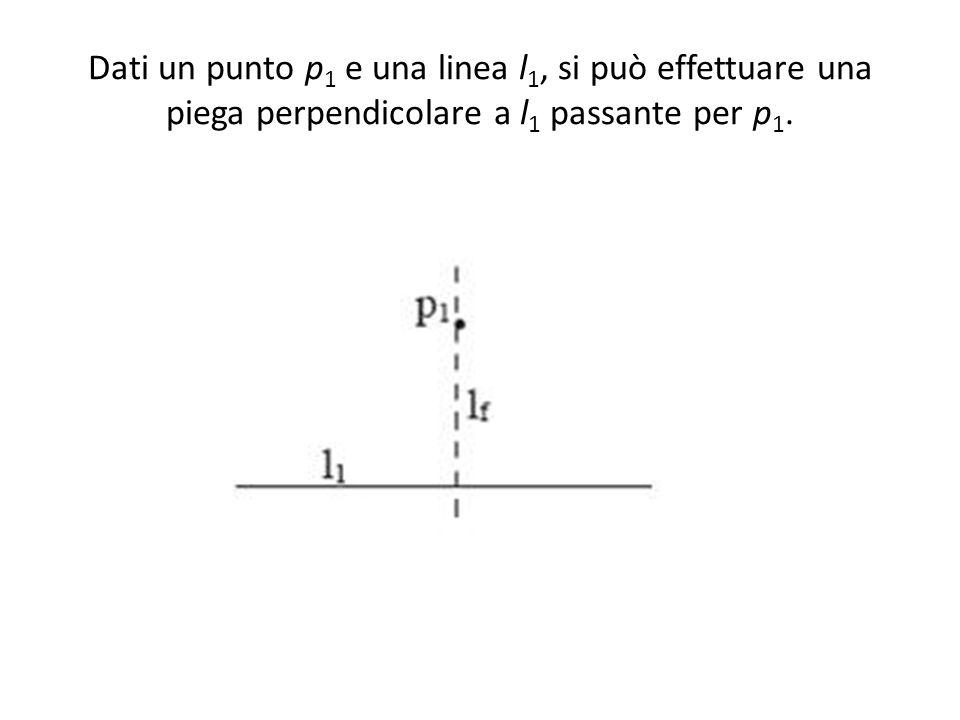 Dati un punto p1 e una linea l1, si può effettuare una piega perpendicolare a l1 passante per p1.