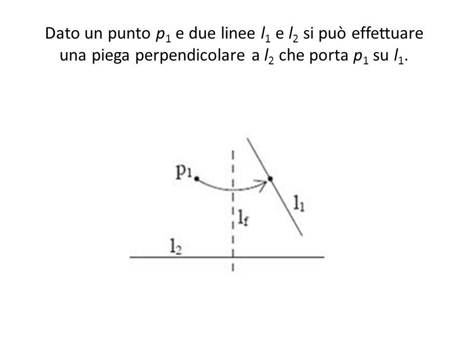 Dato un punto p1 e due linee l1 e l2 si può effettuare una piega perpendicolare a l2 che porta p1 su l1.
