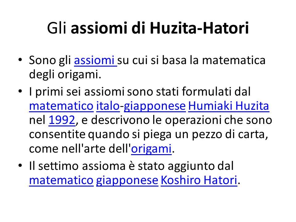 Gli assiomi di Huzita-Hatori