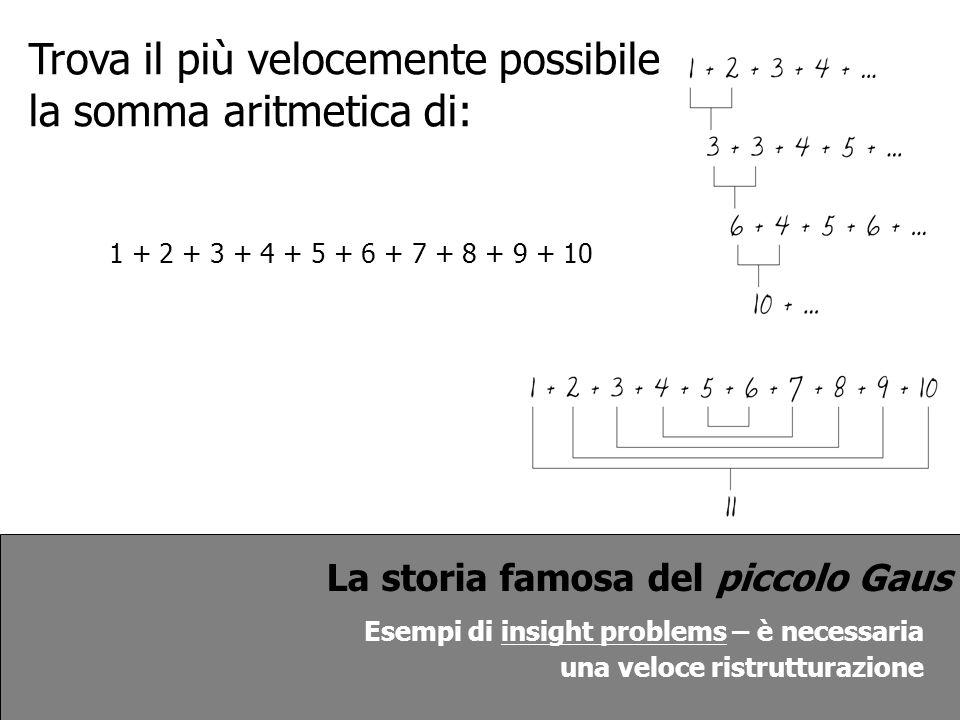 Trova il più velocemente possibile la somma aritmetica di: