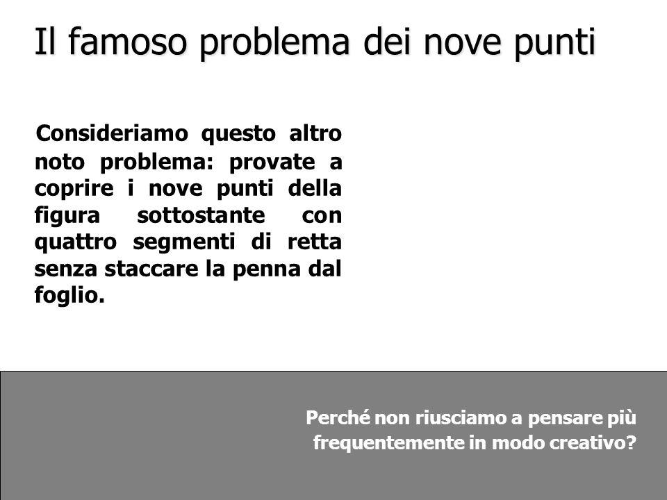 Il famoso problema dei nove punti
