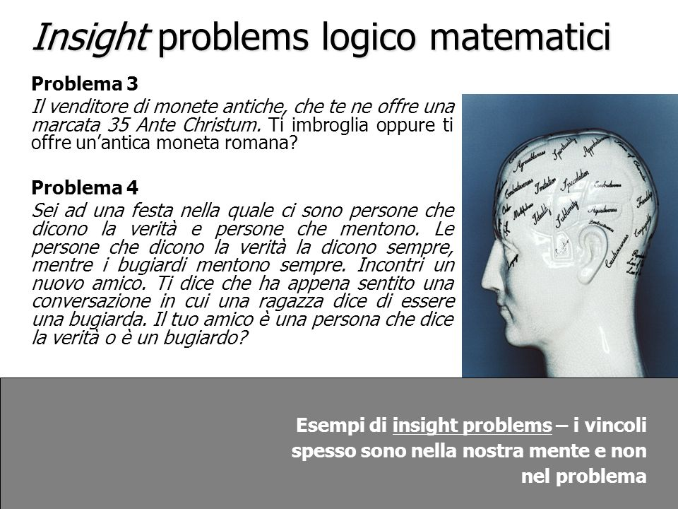 Insight problems logico matematici