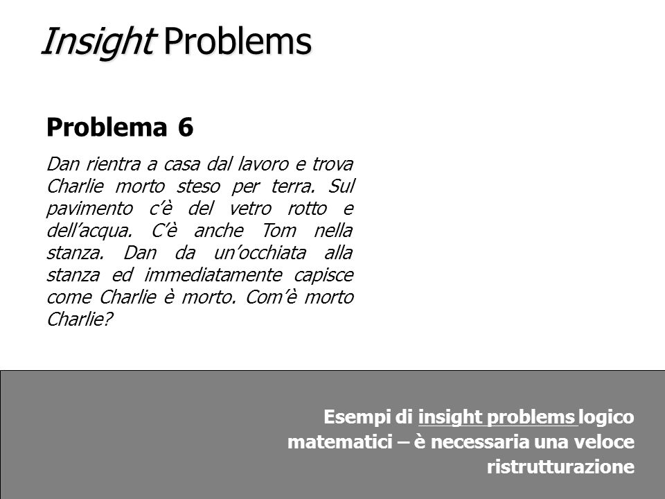 Insight Problems Problema 6
