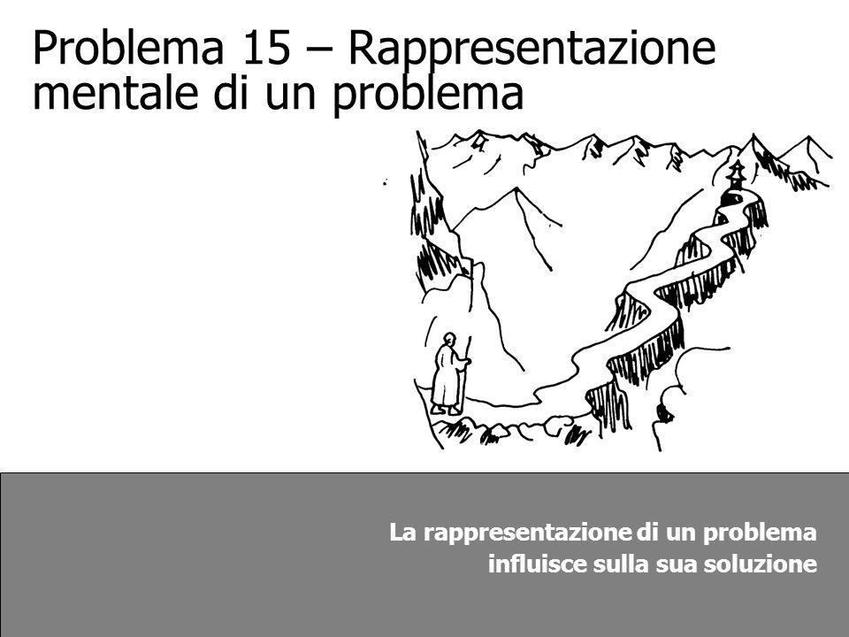 Problema 15 – Rappresentazione mentale di un problema