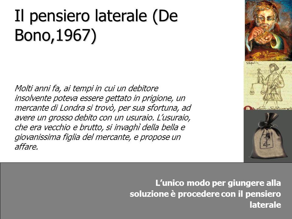 Il pensiero laterale (De Bono,1967)