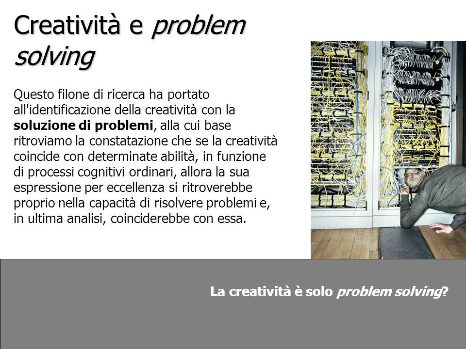 Creatività e problem solving