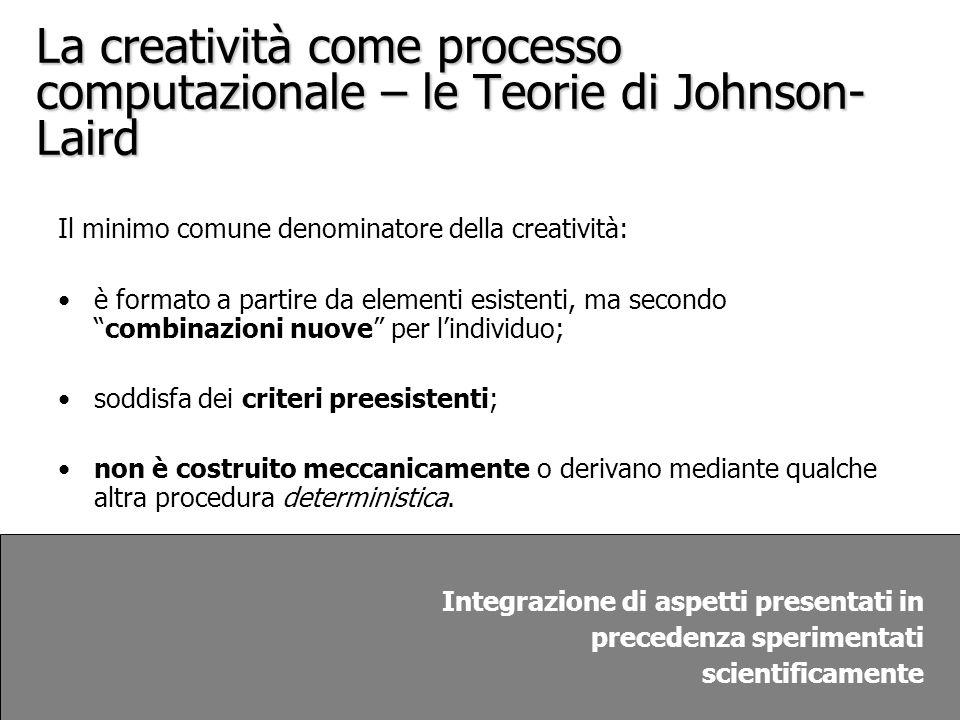 La creatività come processo computazionale – le Teorie di Johnson-Laird