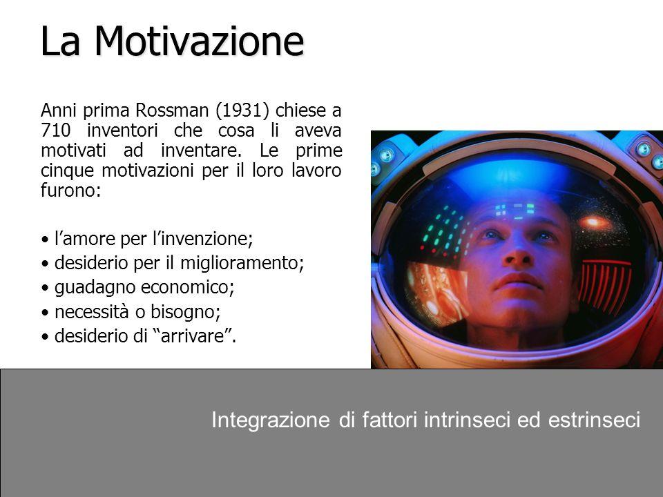 La Motivazione Integrazione di fattori intrinseci ed estrinseci