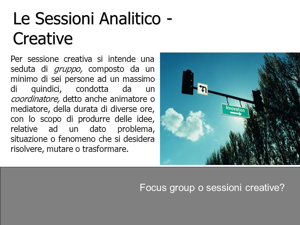 Le Sessioni Analitico - Creative