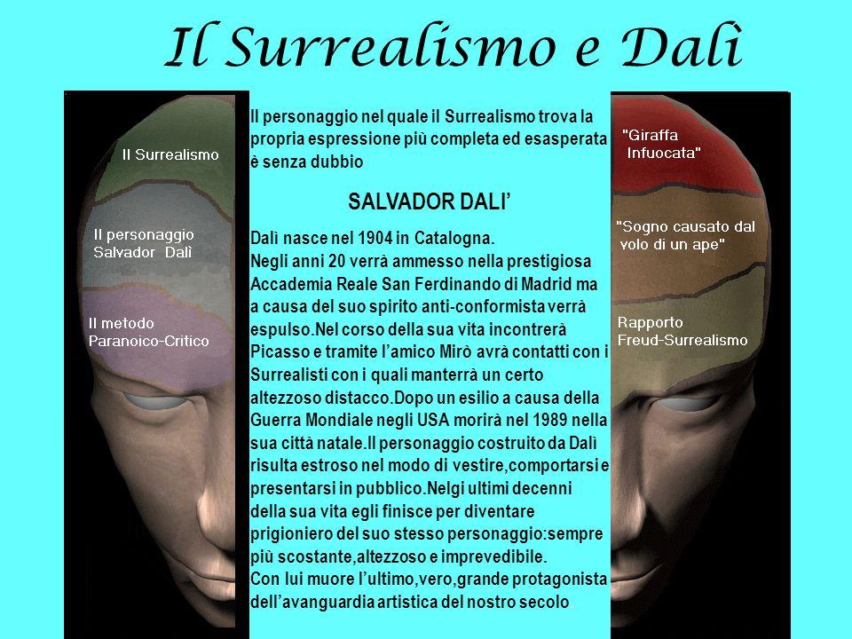 Il Surrealismo e Dalì SALVADOR DALI'