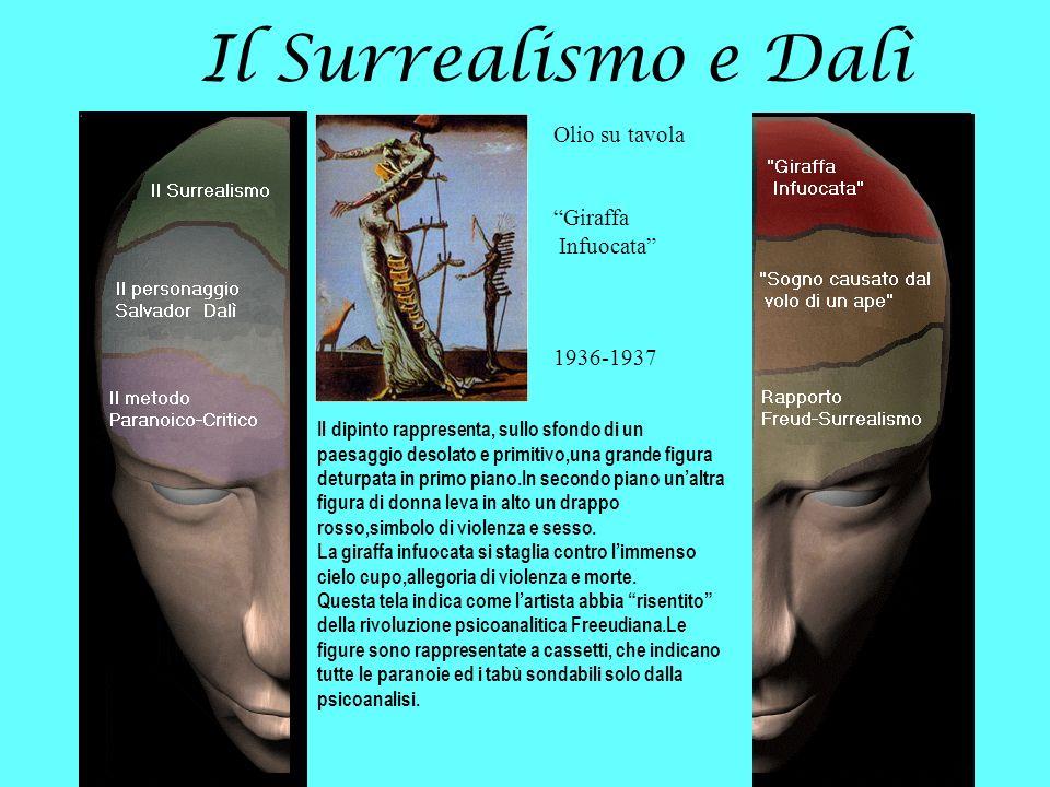 Il Surrealismo e Dalì Olio su tavola Giraffa Infuocata 1936-1937