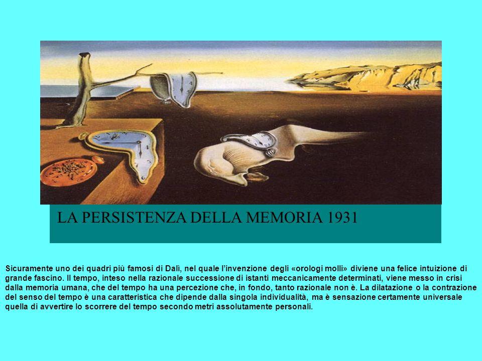 LA PERSISTENZA DELLA MEMORIA 1931 LA PERSISTENZA DELLA MEMORIA