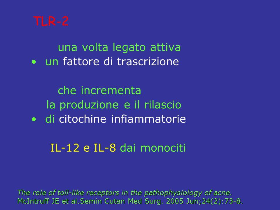 TLR-2 una volta legato attiva un fattore di trascrizione