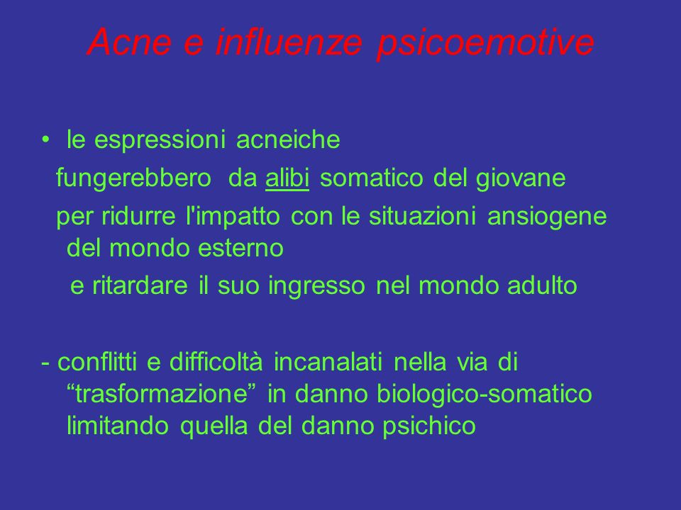 Acne e influenze psicoemotive