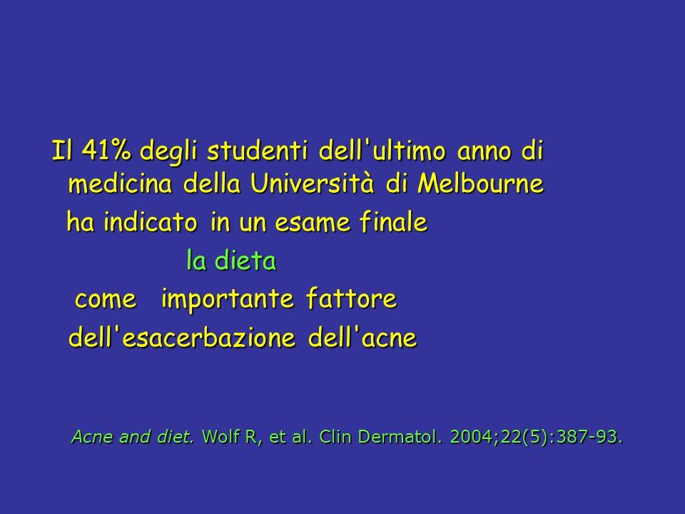Il 41% degli studenti dell ultimo anno di medicina della Università di Melbourne
