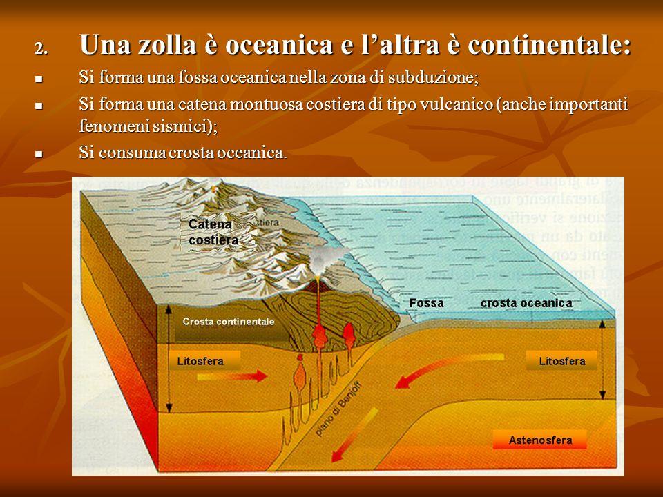 Una zolla è oceanica e l'altra è continentale: