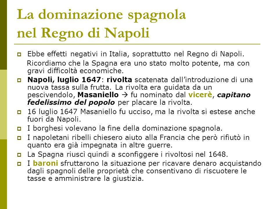 La dominazione spagnola nel Regno di Napoli