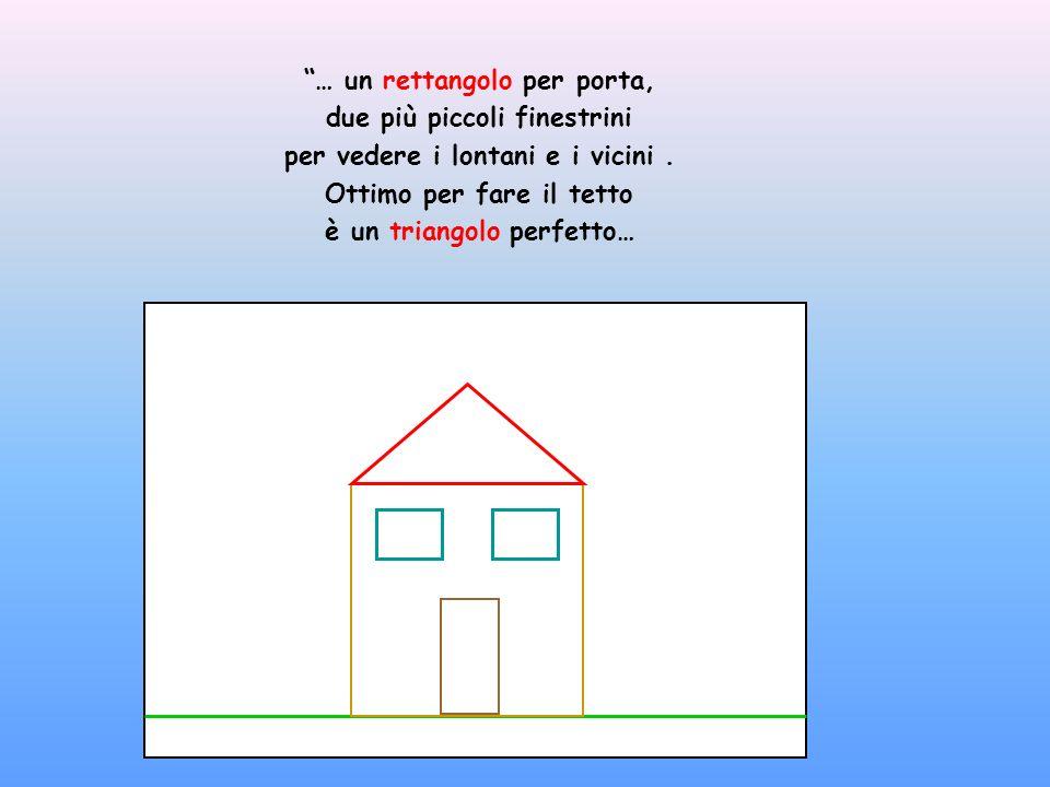 … un rettangolo per porta, due più piccoli finestrini