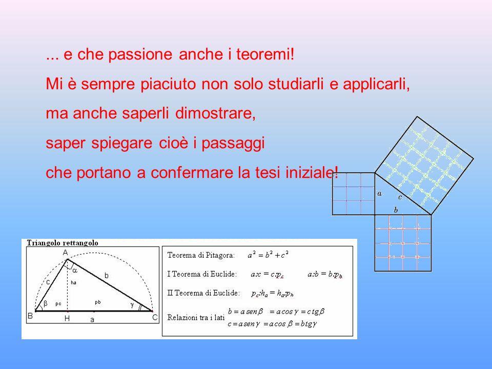 ... e che passione anche i teoremi!
