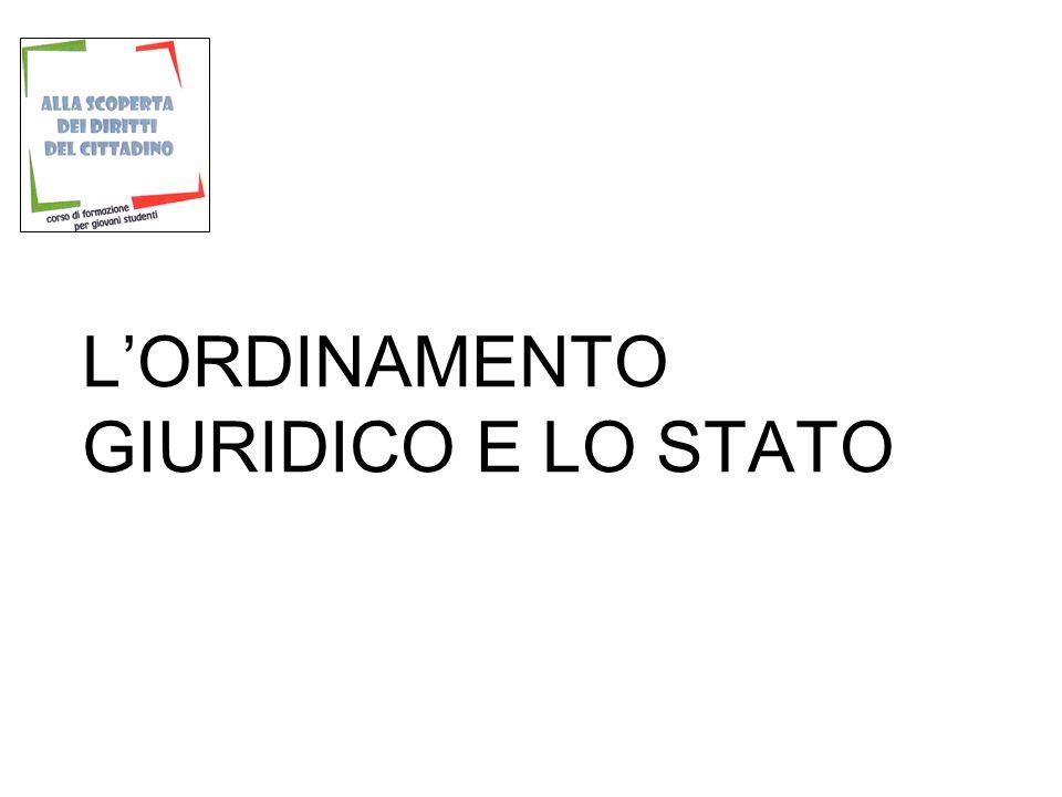 L'ORDINAMENTO GIURIDICO E LO STATO