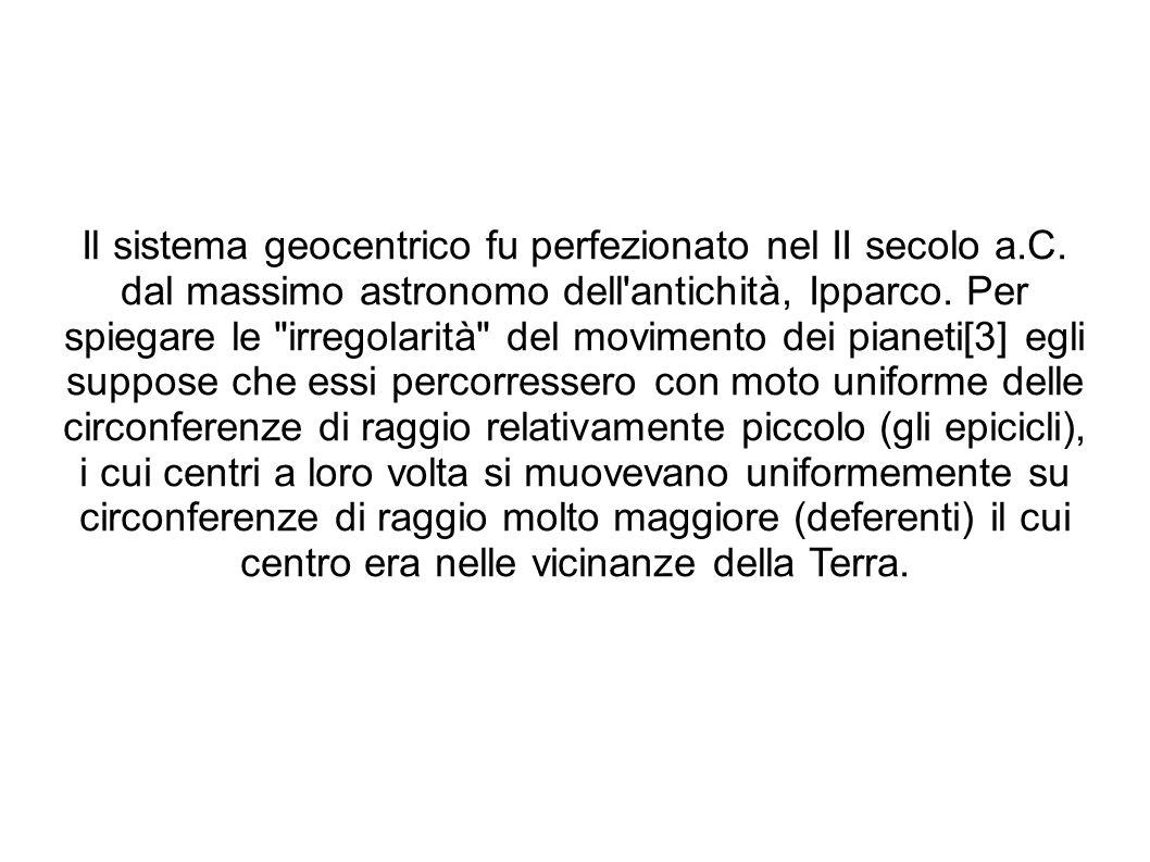 Il sistema geocentrico fu perfezionato nel II secolo a. C