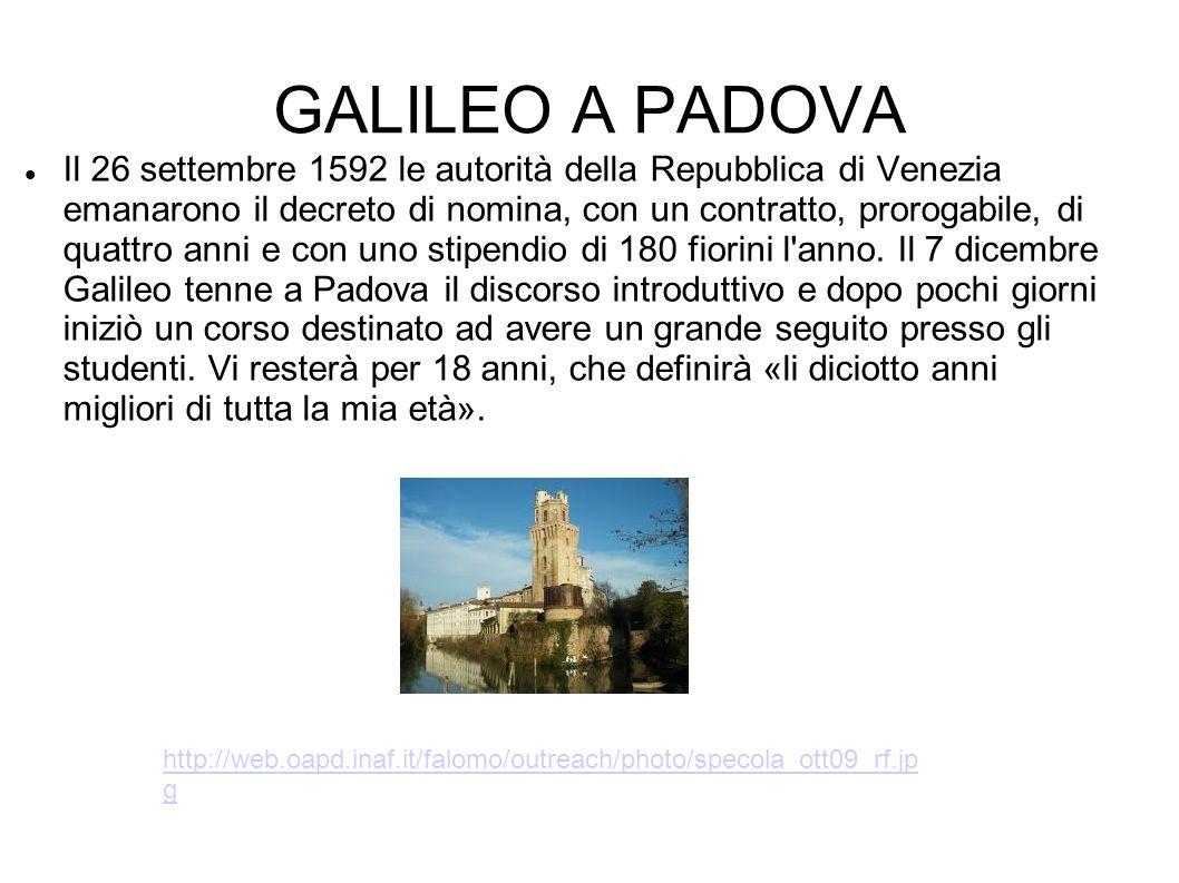 GALILEO A PADOVA