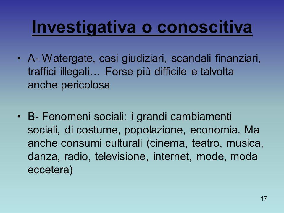 Investigativa o conoscitiva