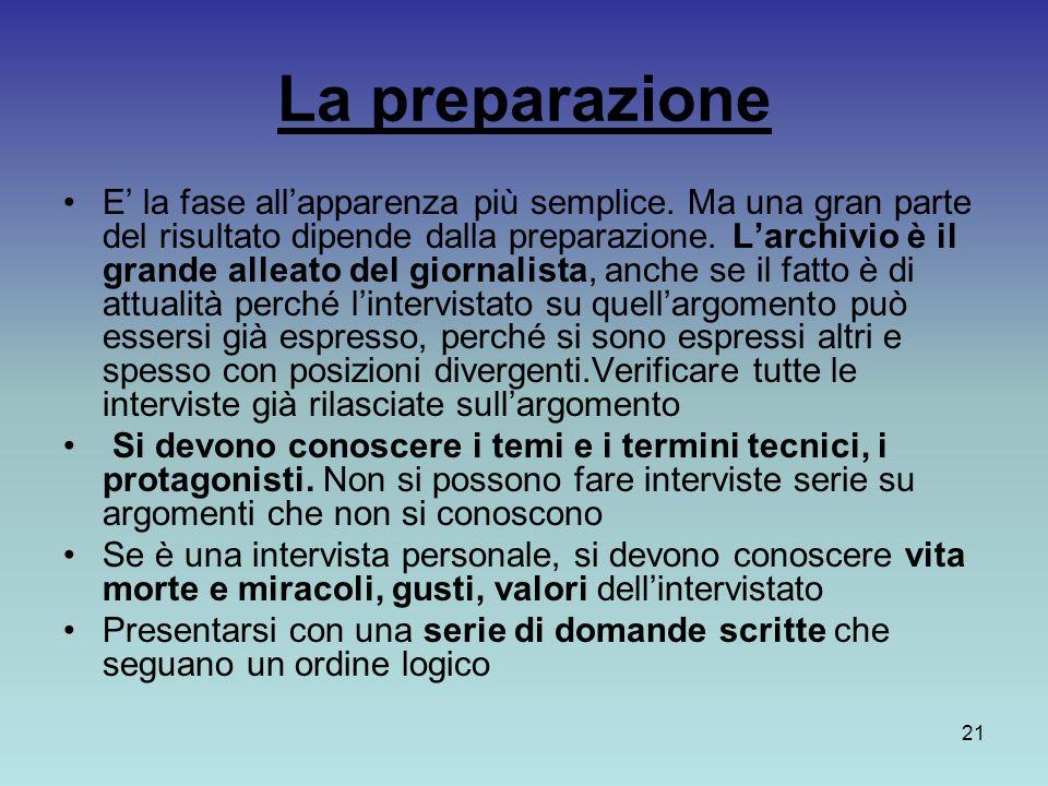 La preparazione