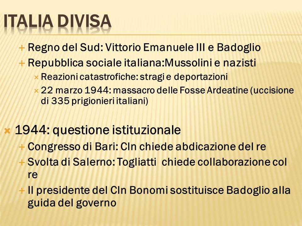 Italia divisa 1944: questione istituzionale