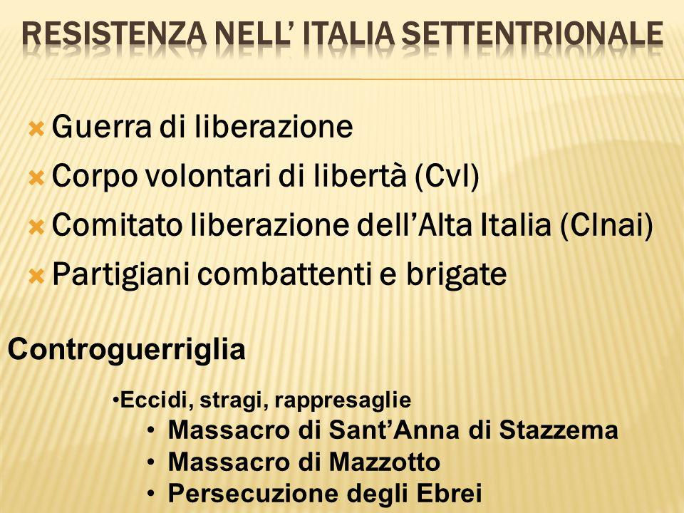 Resistenza nell' italia settentrionale