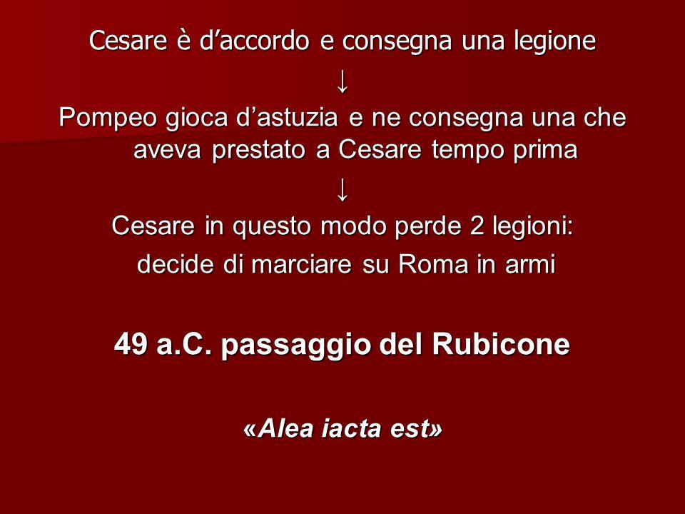 49 a.C. passaggio del Rubicone