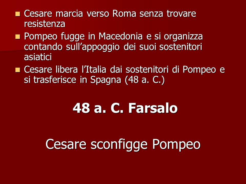Cesare sconfigge Pompeo