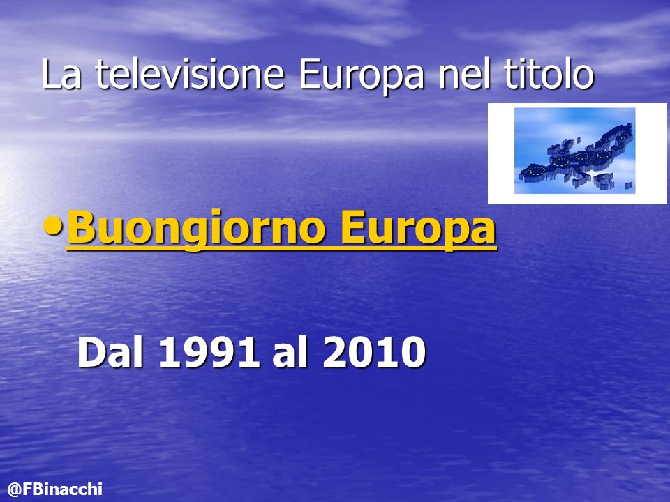 La televisione Europa nel titolo