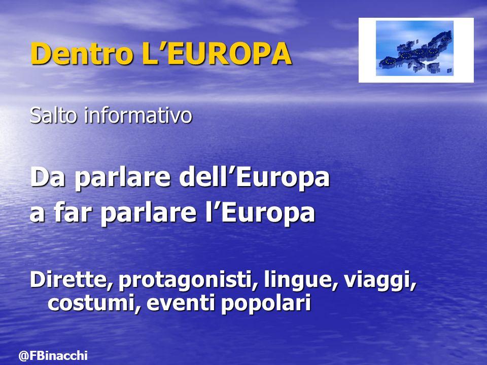 Dentro L'EUROPA Da parlare dell'Europa a far parlare l'Europa