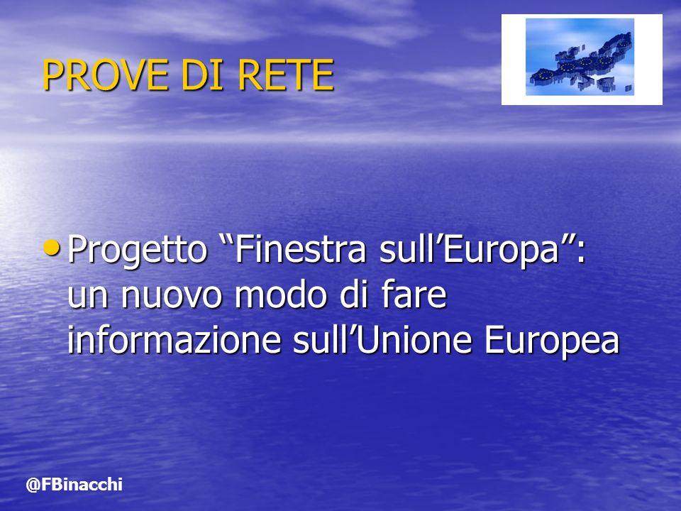 PROVE DI RETE Progetto Finestra sull'Europa : un nuovo modo di fare informazione sull'Unione Europea.
