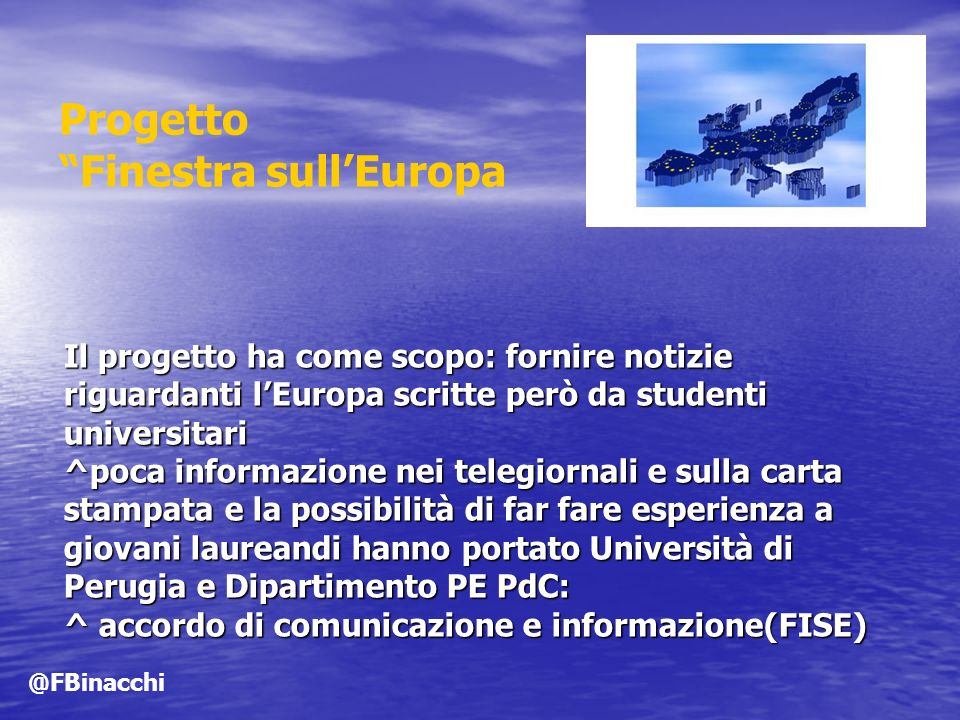 Progetto Finestra sull'Europa