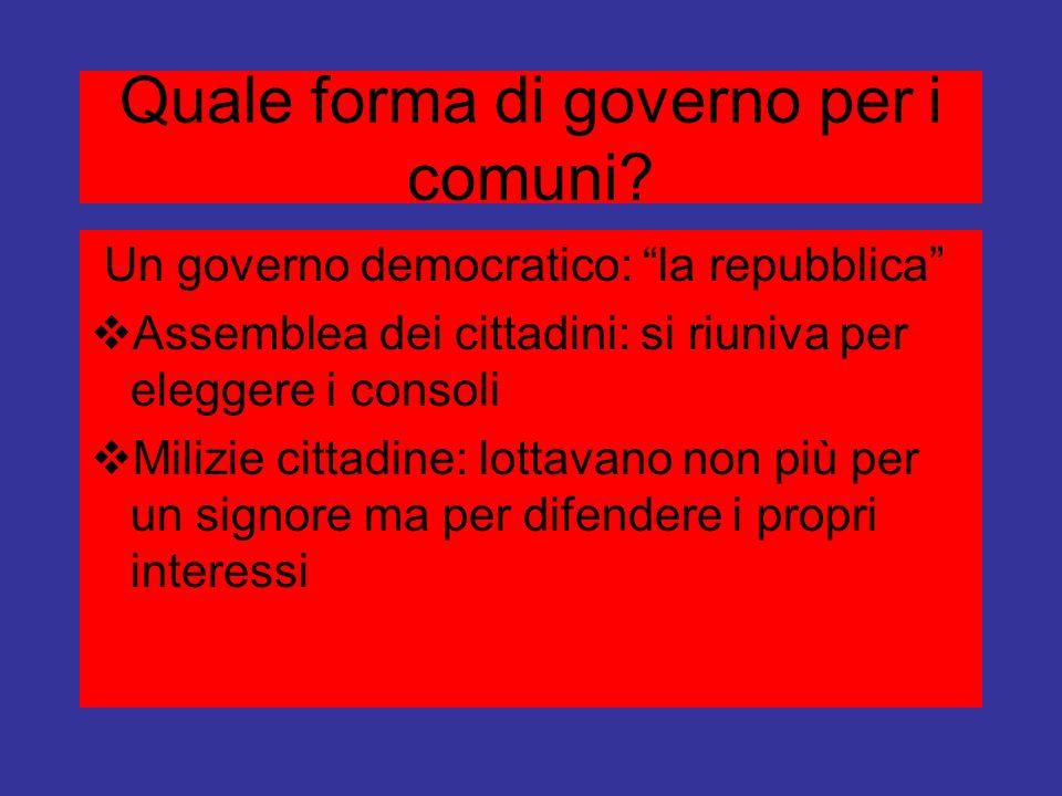 Quale forma di governo per i comuni