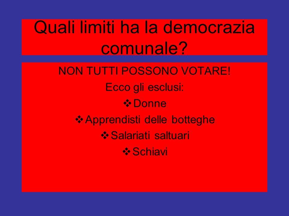 Quali limiti ha la democrazia comunale