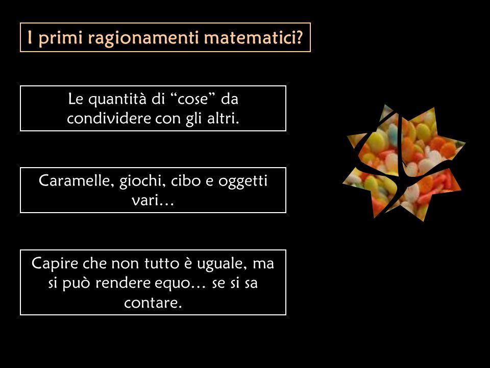 I primi ragionamenti matematici