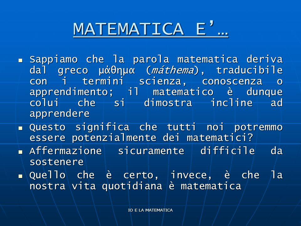MATEMATICA E'…