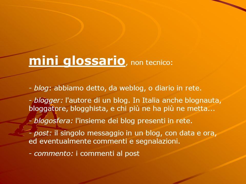 mini glossario, non tecnico: