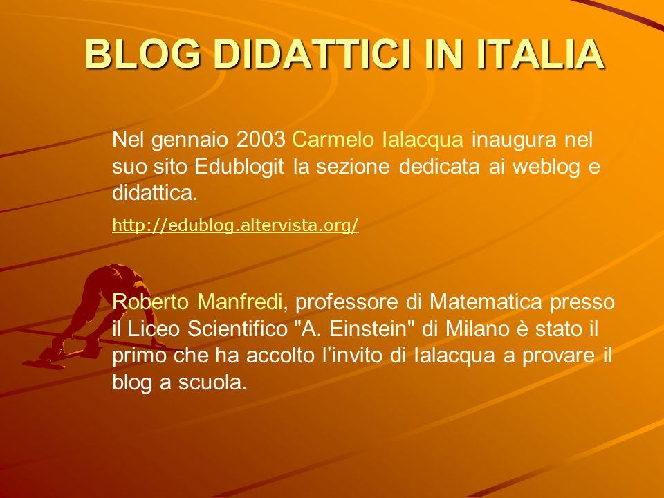 BLOG DIDATTICI IN ITALIA
