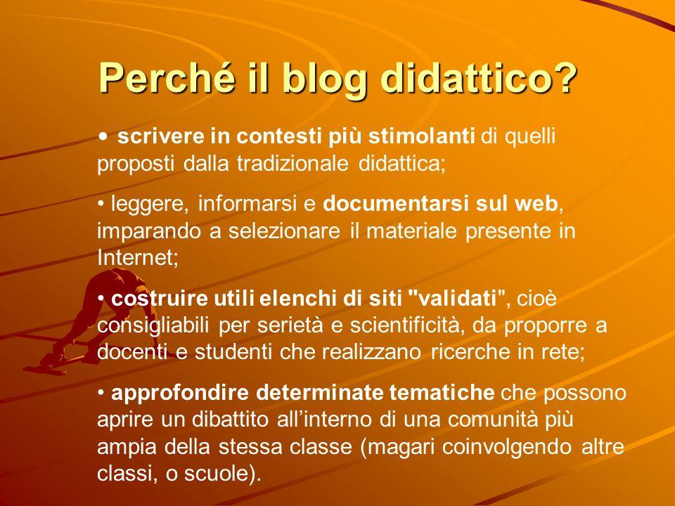 Perché il blog didattico