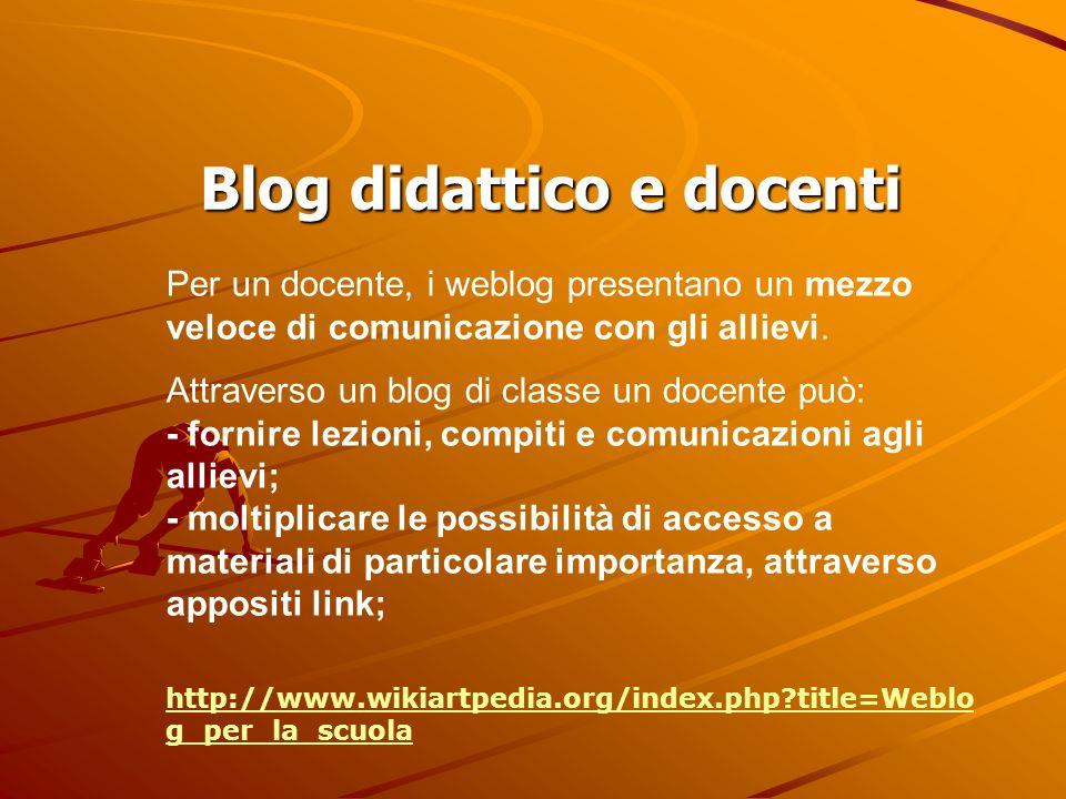 Blog didattico e docenti
